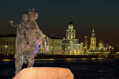 Peter la grande statua a St Petersburg, Russia Immagine Stock