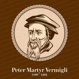 """Peter męczennika Vermigli 1499 †""""1562 był Znoszącym Reformowanym teologiem Chrześcijańska postać royalty ilustracja"""