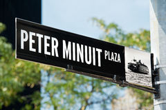 Peter Minuit Plaza New York Images libres de droits
