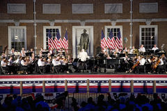 Peter Nero and the Philly Pops performing in front of historic Independence Hall Royalty Free Stock Photo
