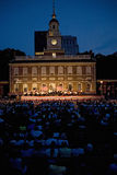 Peter Nero and the Philly Pops performing in front of historic Independence Hall Stock Photo