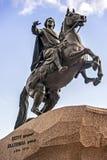 Peter o grande, cavaleiro de bronze imagens de stock royalty free