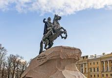 Peter o grande, cavaleiro de bronze fotografia de stock