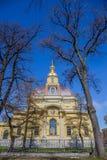 Peter och Paul Cathedral, för århundradeRomanov för th 18 plats för jordfästning dynasti - St Petersburg, Ryssland arkivbilder