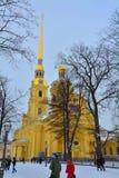 Peter och Paul Cathedral i St Petersburg, Ryssland Royaltyfria Bilder
