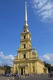Peter och Paul domkyrka i St Petersburg, Ryssland Arkivbild