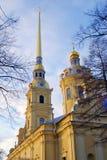 Peter och Paul Fortress i St Petersburg, Ryssland Fotografering för Bildbyråer