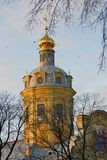 Peter och Paul Fortress i St Petersburg, Ryssland Arkivfoto
