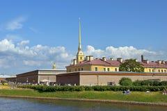 Peter och Paul Fortress och domkyrka Royaltyfria Foton