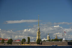 Peter och Paul Fortress, St Petersburg, Ryssland Royaltyfria Bilder