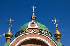 Peter och Paul ortodoxt kapell i Lipetsk, Ryssland Royaltyfria Bilder
