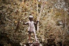 Peter Pan Monument Arkivfoton
