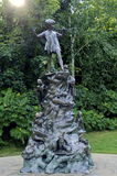 Peter Pan Statue. The famous statue of Peter Pan in Kensington Gardens in London is a popular tourist destination stock images