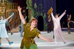 Peter Pan termina la demostración Fotos de archivo libres de regalías