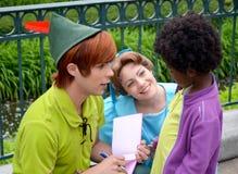 Peter Pan und Wendy Stockbild