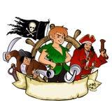 Peter Pan y el emblema de los piratas Fotografía de archivo libre de regalías