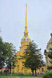 Peter and Paul Cathedral with golden angel in Saint Petersburg, Russia Royalty Free Stock Photo