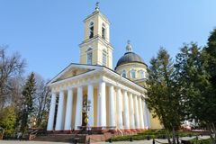 Gomel Palace and Park Ensemble. View of the Cathedral of Peter and Paul. Sights of Gomel. The author of the project and the royalty free stock photography