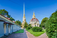 The Peter and Paul cathedral and the Grand Ducal Burial Vault. Stock Photography