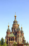 Peter and Paul Cathedral near Peterhof in St. Petersburg Stock Photos