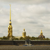 Peter and Paul cathedral and neva river Stock Photography