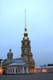 Peter and Paul Cathedral at night Royalty Free Stock Photography