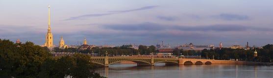 Peter and Paul Cathedral panorama, Saint Petersburg Stock Image