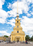 Peter and Paul Cathedral in Peter and Paul Fortress, Saint Petersburg Royalty Free Stock Images