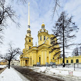 Peter and Paul Cathedral in Saint Petersburg Stock Photos