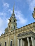 Peter and Paul cathedral in St. Petersburg stock photo