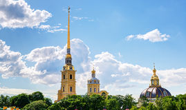 Peter and Paul Cathedral in St. Petersburg Stock Images