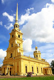 Peter and Paul Cathedral in St. Petersburg. Russia. St. Petersburg. Peter and Paul Cathedral in the Peter and Paul Fortress - built in the years 1712-1733 by Royalty Free Stock Photo