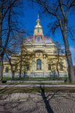 Peter and Paul Cathedral, 18th-century Romanov dynasty burial site - Saint Petersburg, Russia. Peter and Paul Cathedral, 18th-century Romanov dynasty burial site stock images