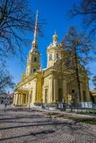 Peter and Paul Cathedral, 18th-century Romanov dynasty burial site - Saint Petersburg, Russia. Peter and Paul Cathedral, 18th-century Romanov dynasty burial site stock photo