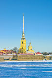 The Peter and Paul Cathedral in winter Stock Photography