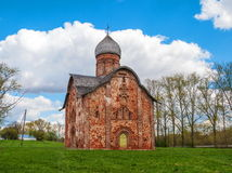 Peter and Paul Church. In Kozhevniki construction in 1406 a stone church - one of the most beautiful in Veliky Novgorod Stock Images