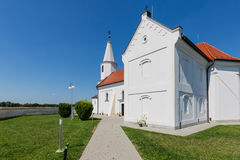 Peter and Paul Church in the village Pac, Slovakia. Romanesque church of St. Peter and Paul from the 13th century in the village Pac, Slovakia Stock Photos