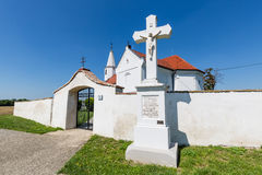 Peter and Paul Church in the village Pac, Slovakia. Romanesque church of St. Peter and Paul from the 13th century in the village Pac, Slovakia Royalty Free Stock Photos