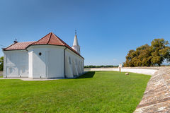 Peter and Paul Church in the village Pac, Slovakia. Romanesque church of St. Peter and Paul from the 13th century in the village Pac, Slovakia Royalty Free Stock Image