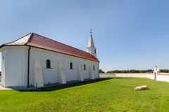 Peter and Paul Church in the village Pac, Slovakia. Romanesque church of St. Peter and Paul from the 13th century in the village Pac, Slovakia Stock Photo