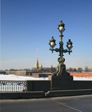 Peter and Paul Fortress. In Saint Petersburg from  the Troitskiy Bridge Royalty Free Stock Photography