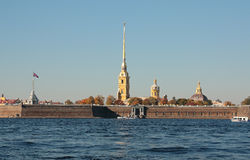 Peter and Paul Fortress. City sketches of historical places of Saint Petersburg Stock Photos