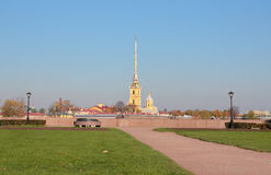Peter and Paul Fortress. City sketches of historical places of Saint Petersburg Stock Photo