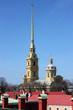 The Peter and Paul Fortress Stock Images