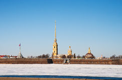 The Peter and Paul Fortress Stock Photo