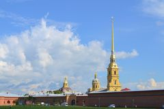 Peter and Paul Fortress. In St.Petersburg Royalty Free Stock Photo