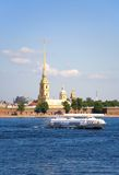 Peter and Paul fortress across the Neva Royalty Free Stock Photo
