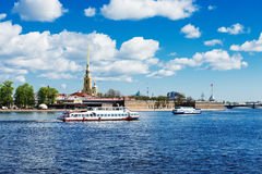 Peter and Paul fortress across the Neva Stock Image