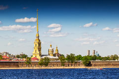 Peter and Paul fortress. On the bank of Neva river in Saint Petersburg, Russia Stock Photography