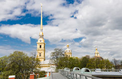 Peter and Paul fortress and Cathedral at St Petersburg Royalty Free Stock Image